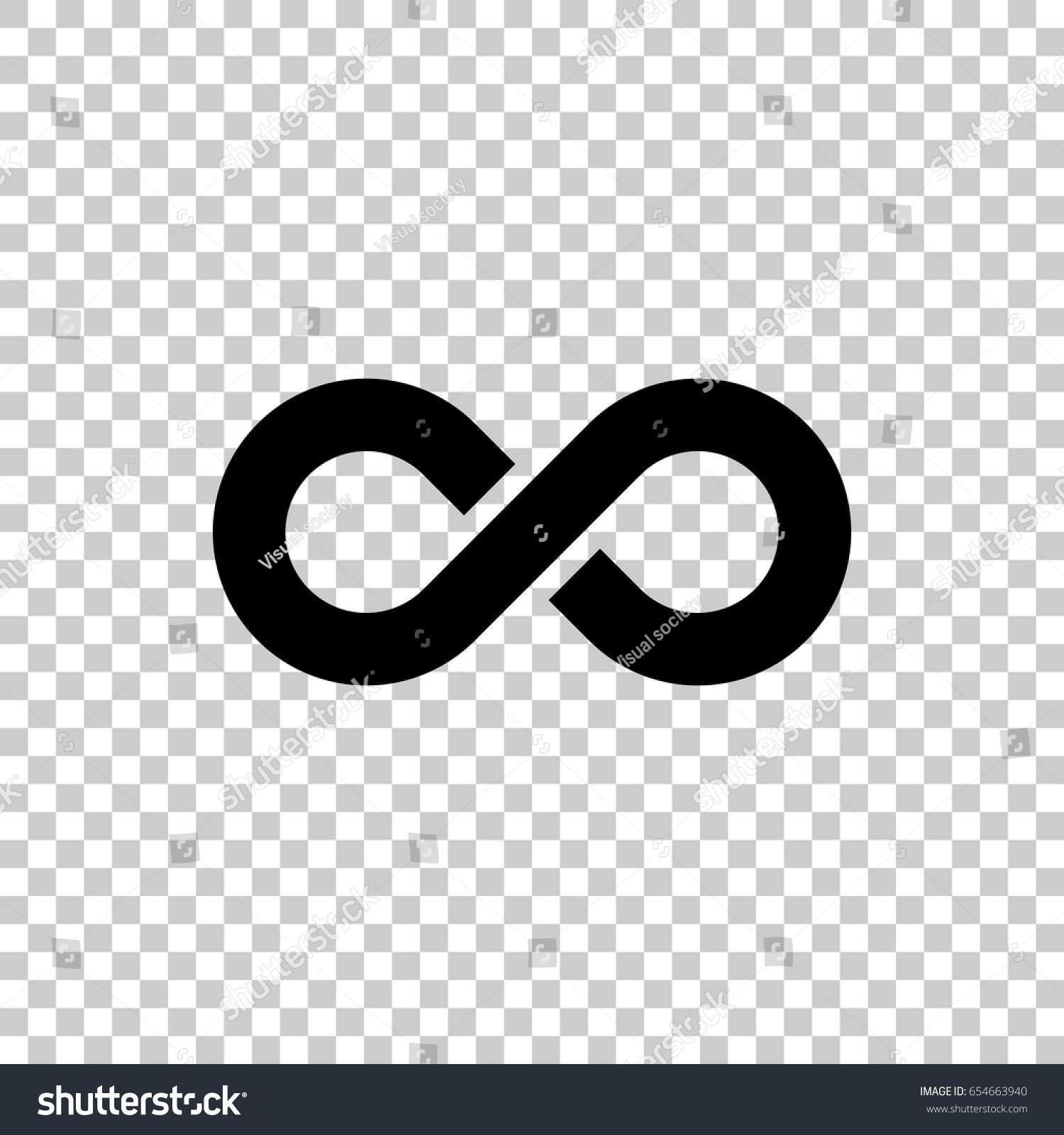 Infinity symbol isolated on transparent background stock vector infinity symbol isolated on transparent background black symbol for your design vector illustration biocorpaavc