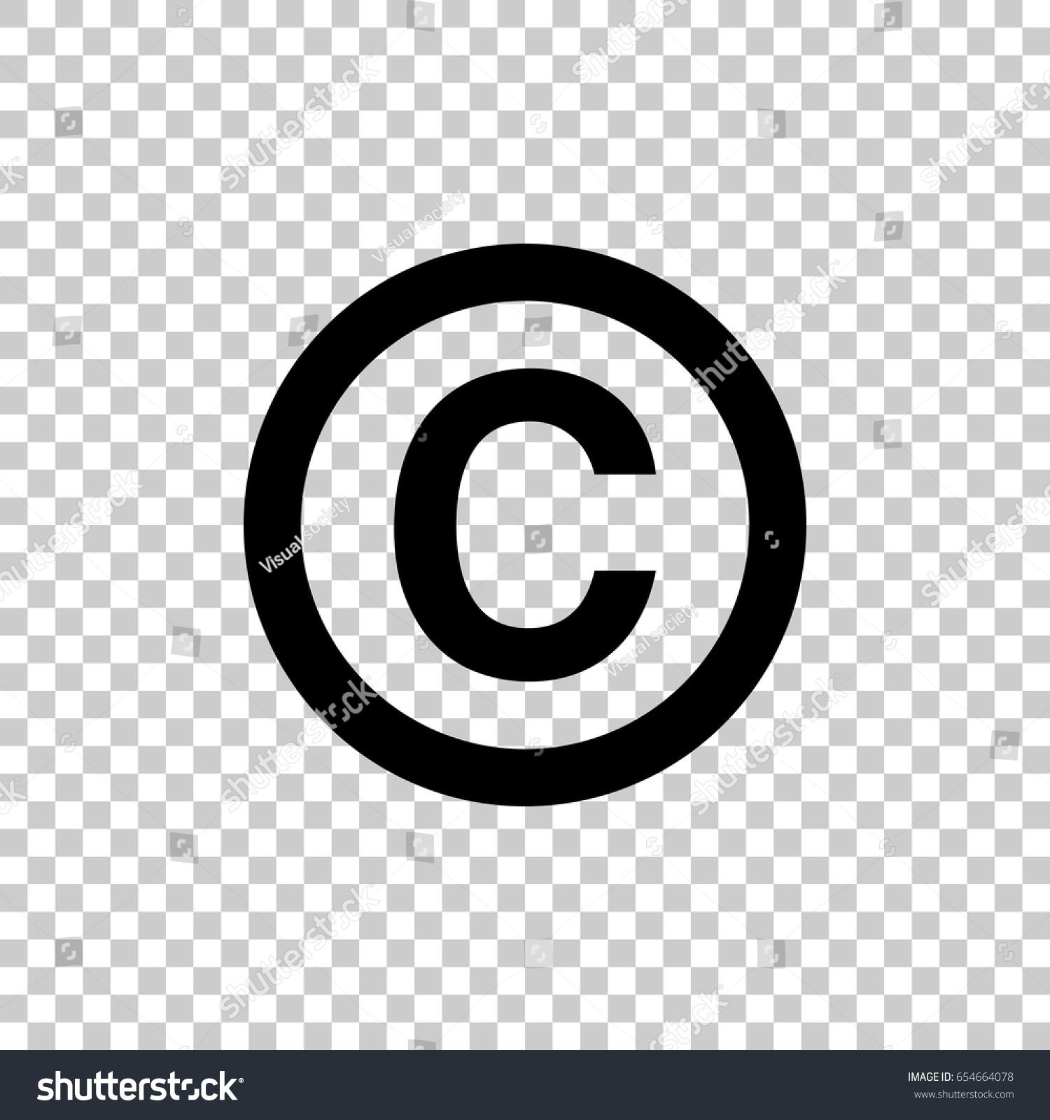 Copyright symbol isolated on transparent background stock vector copyright symbol isolated on transparent background black symbol for your design vector illustration biocorpaavc
