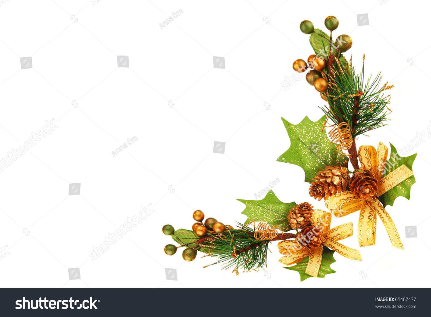 Holiday Frame Border Christmas Tree Branch Stock Photo ...