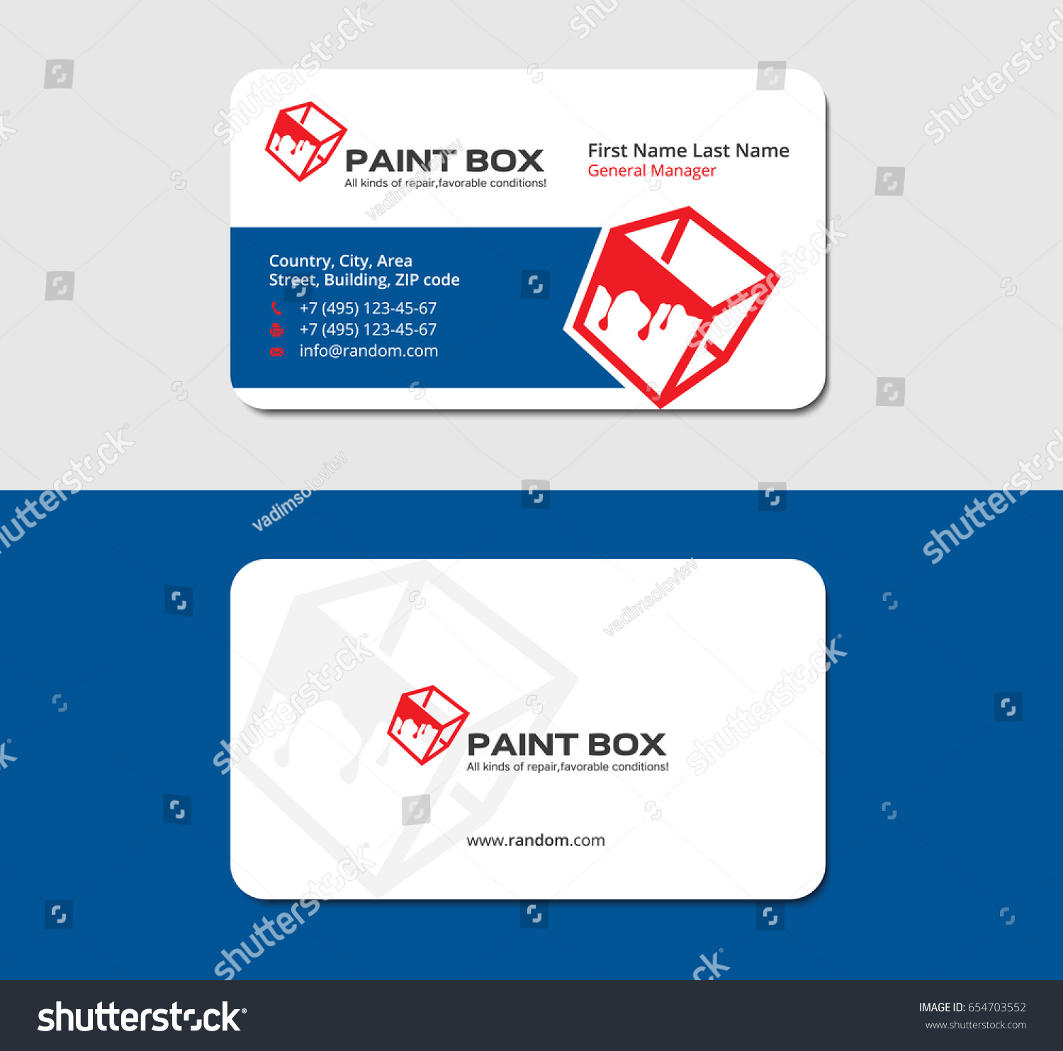 House painting business cards images free business cards paint business cards gallery free business cards business card red box paint flows stock vector 654703552 magicingreecefo Images