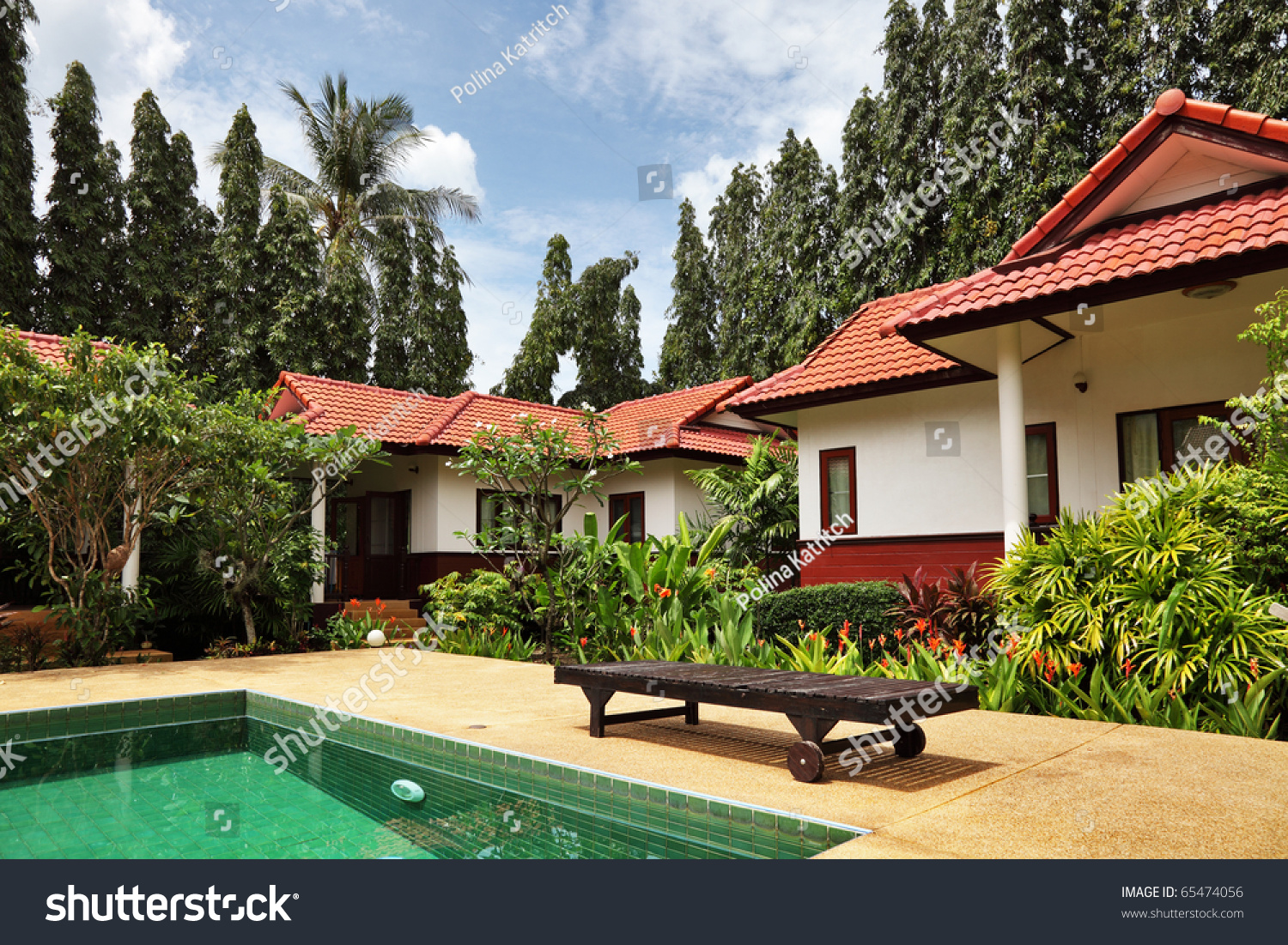 tropical houses with beautiful garden and pool - Beautiful Garden Pictures Houses