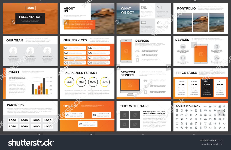 Modern Orange Yellow Presentation Template You Stock Vector