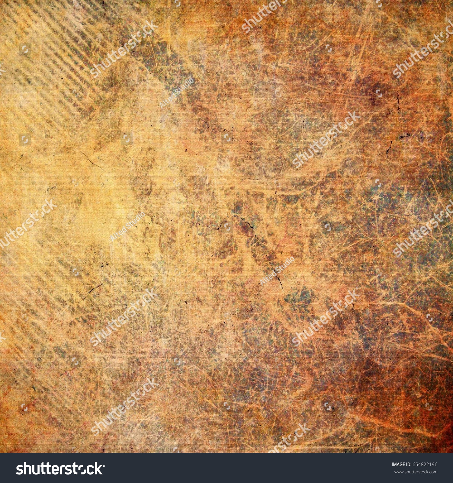 Detail Of Rustic Metal With Brown Or Orange Grey As Texture Background Wallpaper