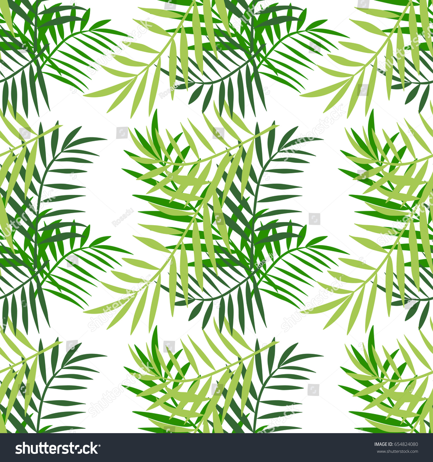 Palm tree leaves seamless pattern tropical stock vector 654824080 palm tree leaves seamless pattern tropical greeting card invitation template trendy summer tropical pronofoot35fo Image collections