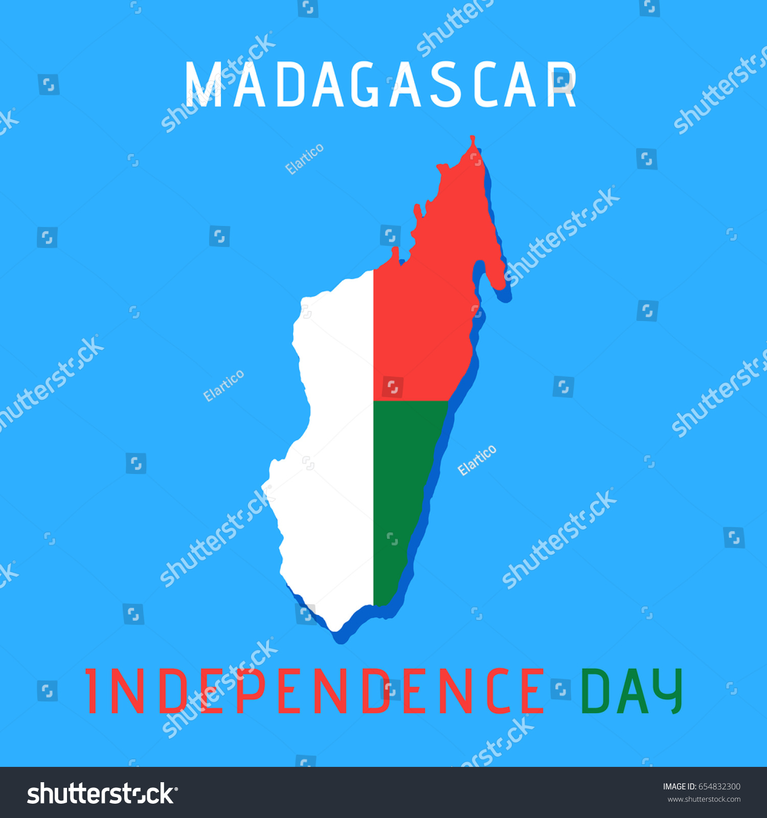 Madagascar independence day greeting card map stock vector 654832300 madagascar independence day greeting card with map of the island template for your design kristyandbryce Gallery