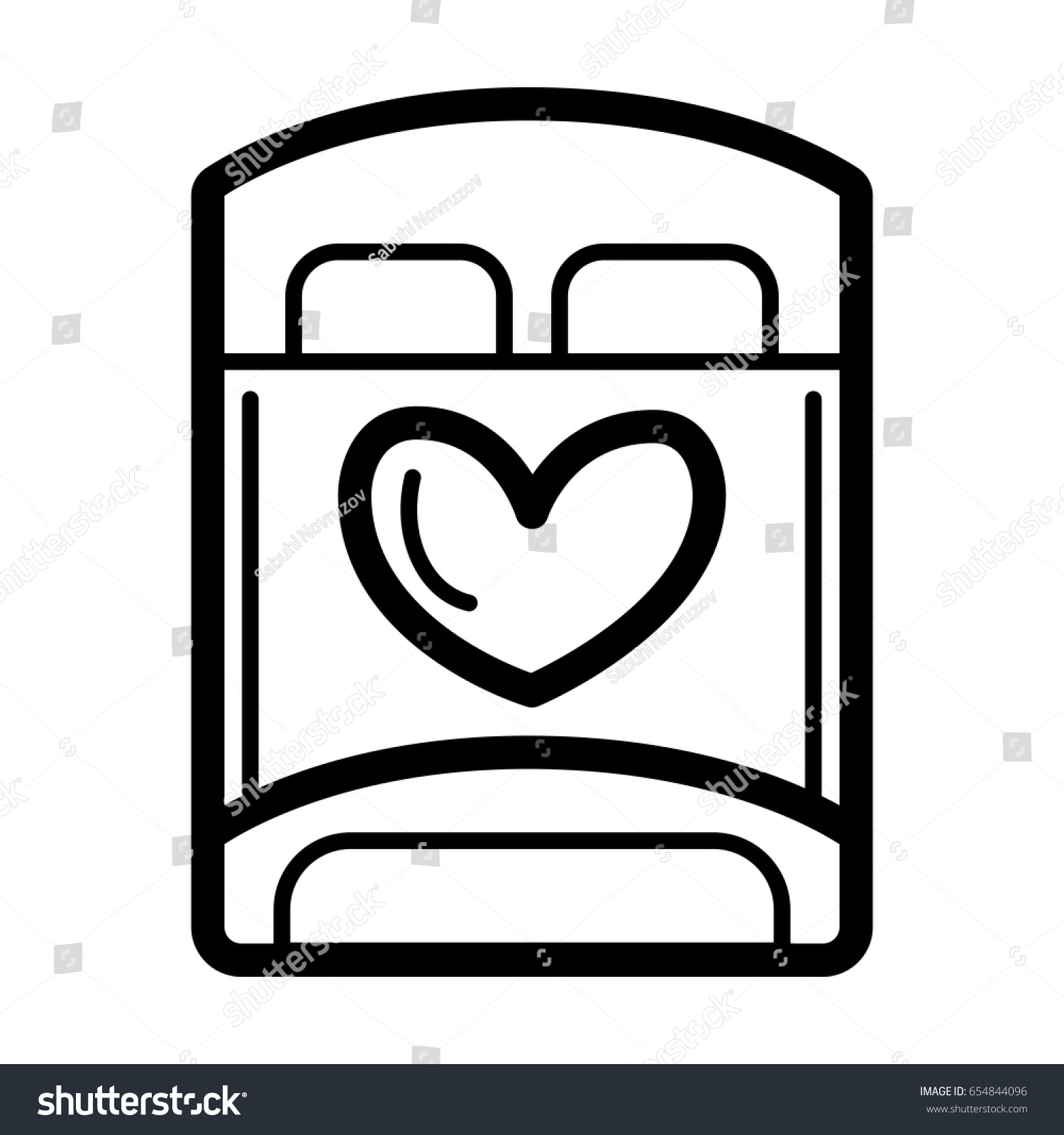 Bed lovers simple vector icon black stock vector 654844096 bed for lovers simple vector icon black and white illustration of bed for sex biocorpaavc