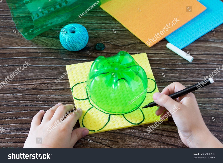 Child Draws Details Childrens Handcraft Money Stock Photo Edit Now