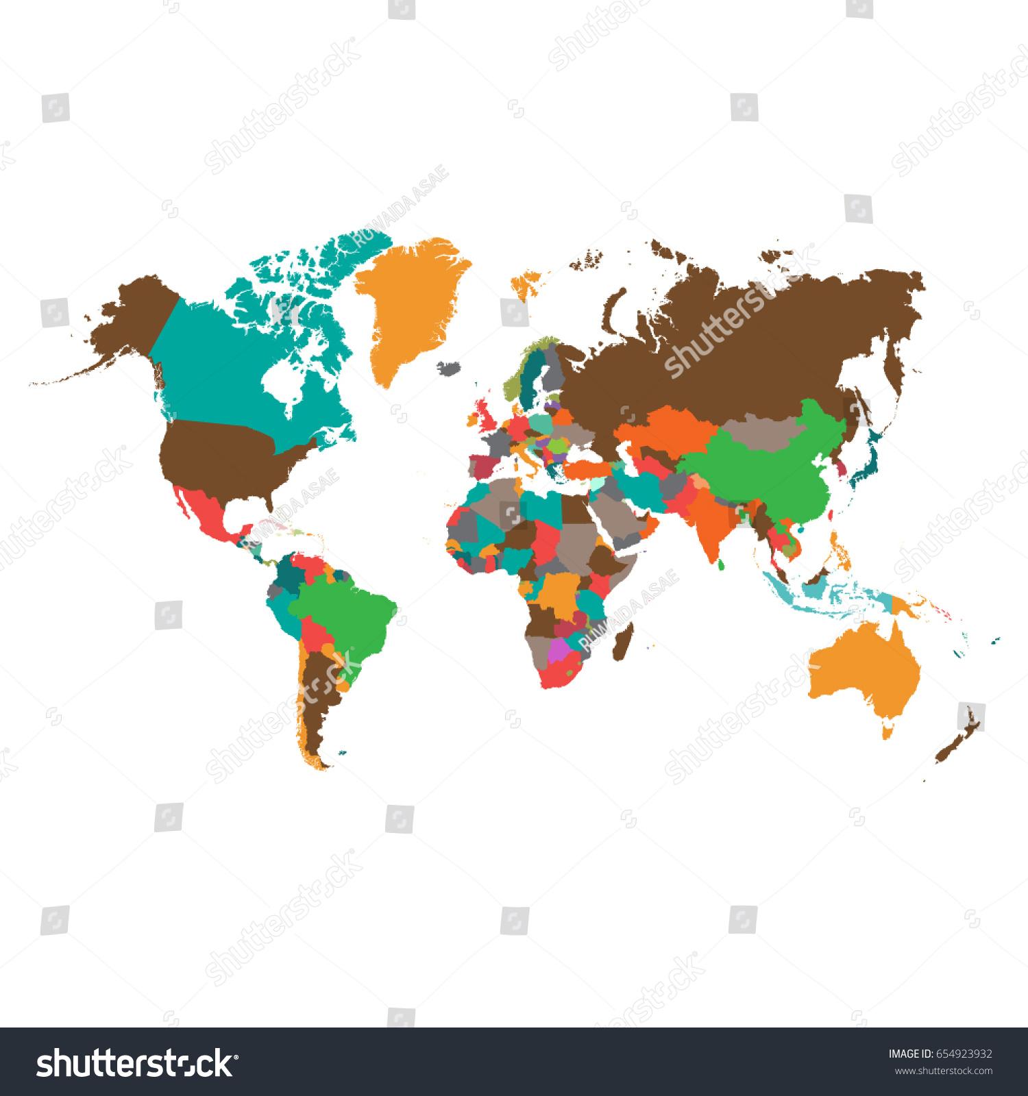 World Map Vector World Mapcountries Vector Stock Vector