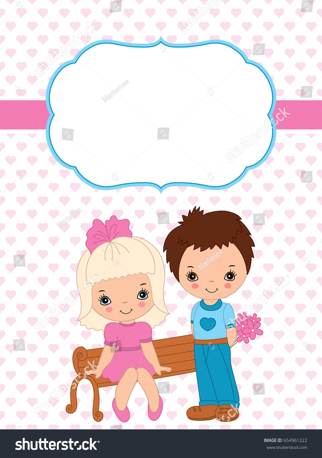 Vector valentines greeting card template cute stock vector 654961222 vector valentines greeting card template cute stock vector 654961222 shutterstock m4hsunfo