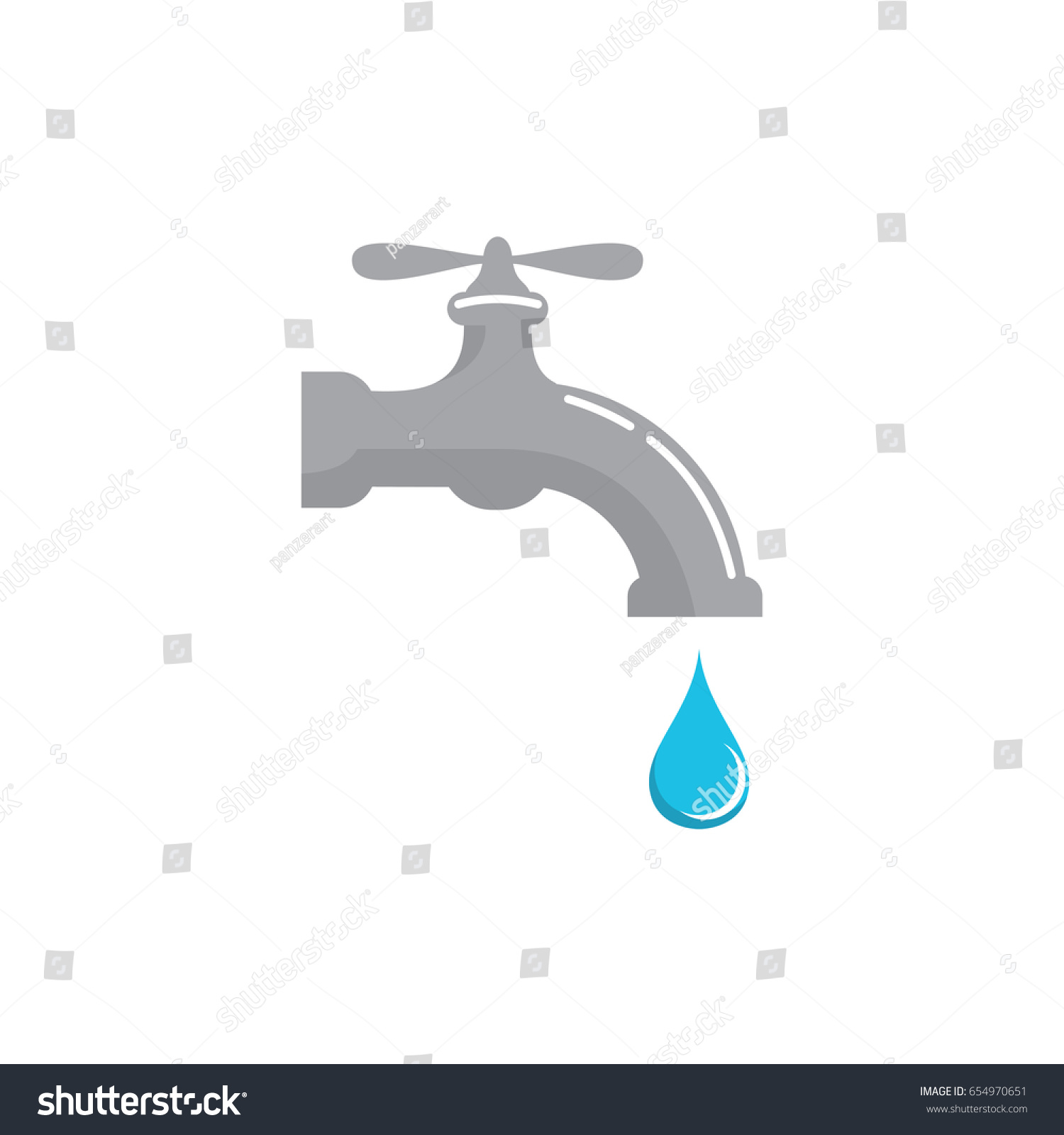 Water Faucet Vector Set Graphics Illustration Stock Photo (Photo ...