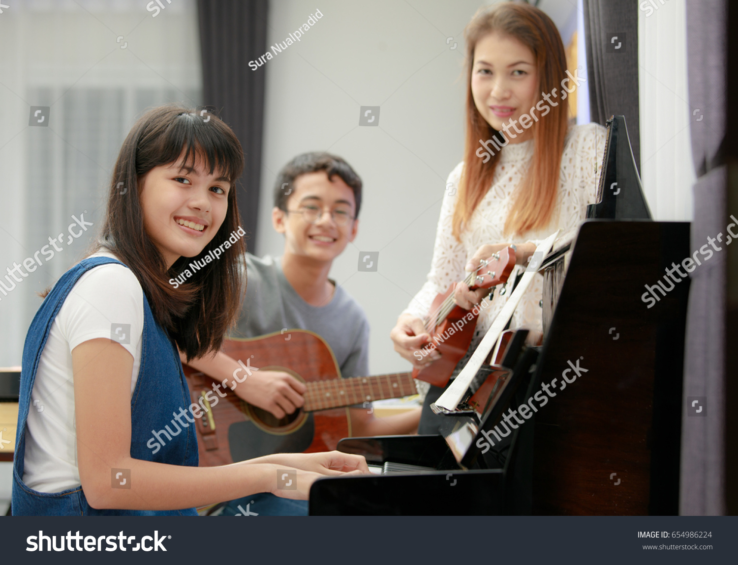 Three People Asian Family Mother Son Stock Photo (Edit Now ...