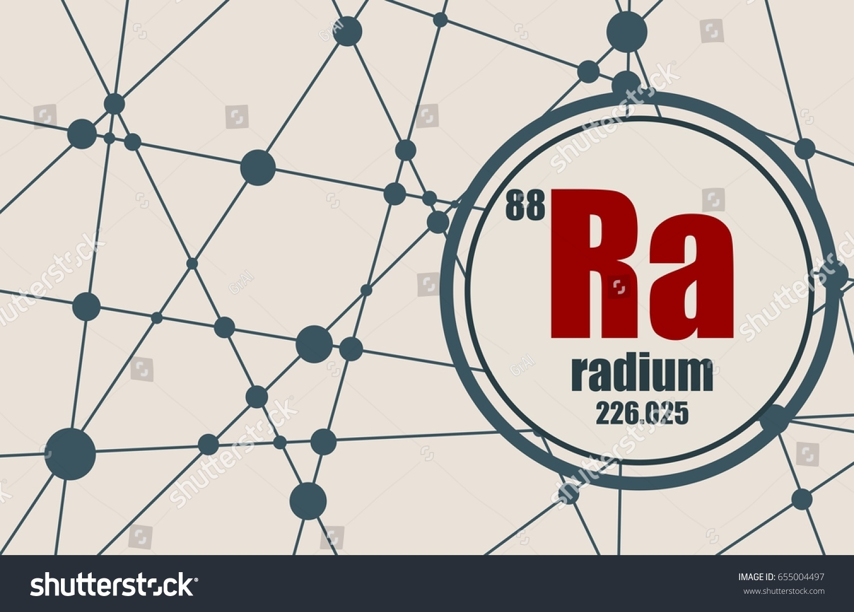 Radium chemical element sign atomic number stock vector 655004497 radium chemical element sign with atomic number and atomic weight chemical element of periodic pooptronica
