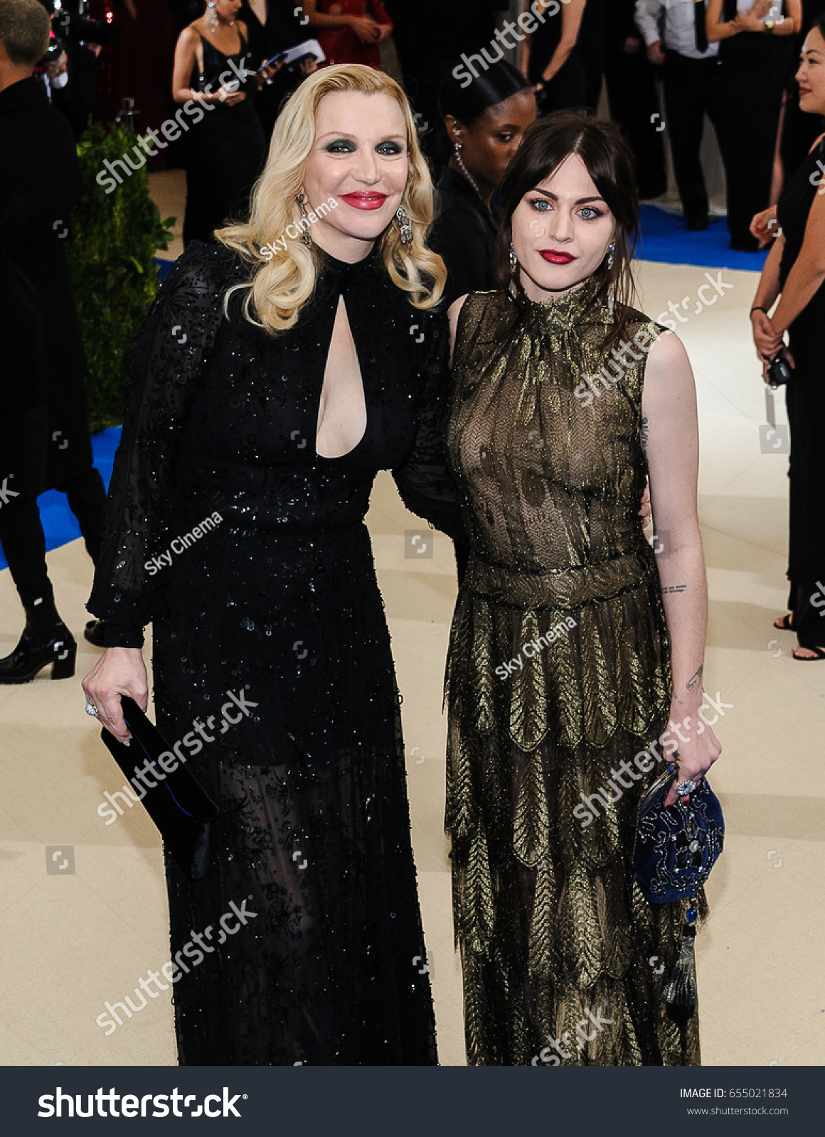 Frances bean cobain at met costume institute gala in new york new pics