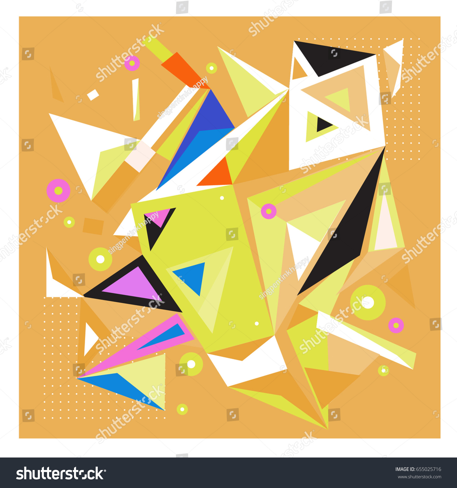 vector of triangle geometric 3d forms modern info banner abstract backgrounds for poster message