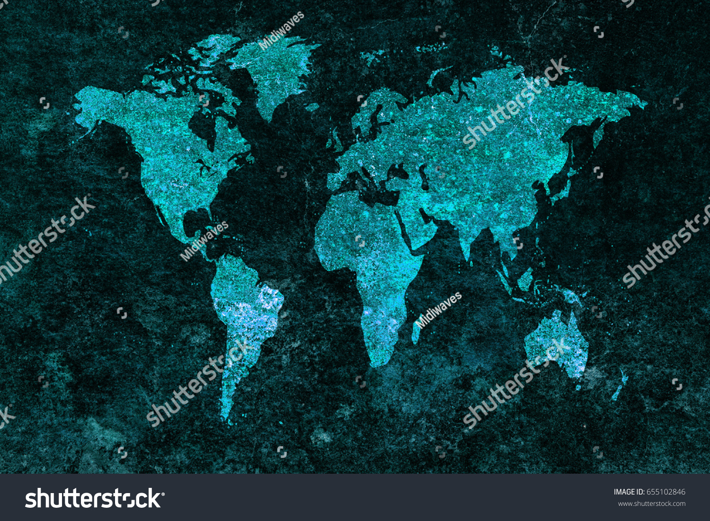 Grunge world map background stock photo 655102846 shutterstock gumiabroncs Gallery