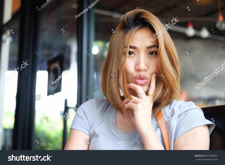 Portrait Beautiful Asian Woman Smiling Bright Stock Photo Edit Now