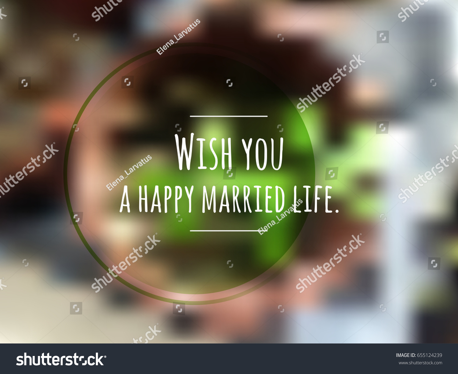 Happy Married Life Greeting Card Text Stock Vector Royalty Free