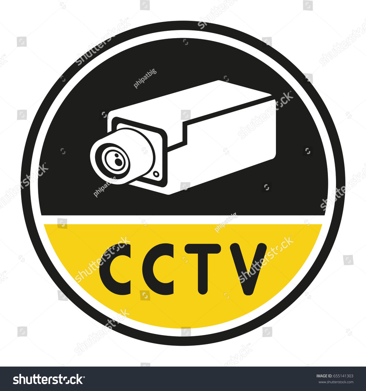 Cctv Security Camera Symbol Stock Vector 655141303 Shutterstock