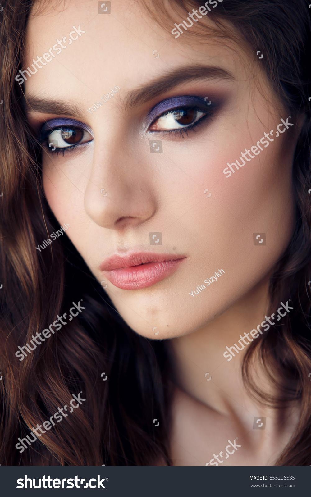 Portrait Beautiful Jewish Girl Bright Blue Stock Photo Edit Now