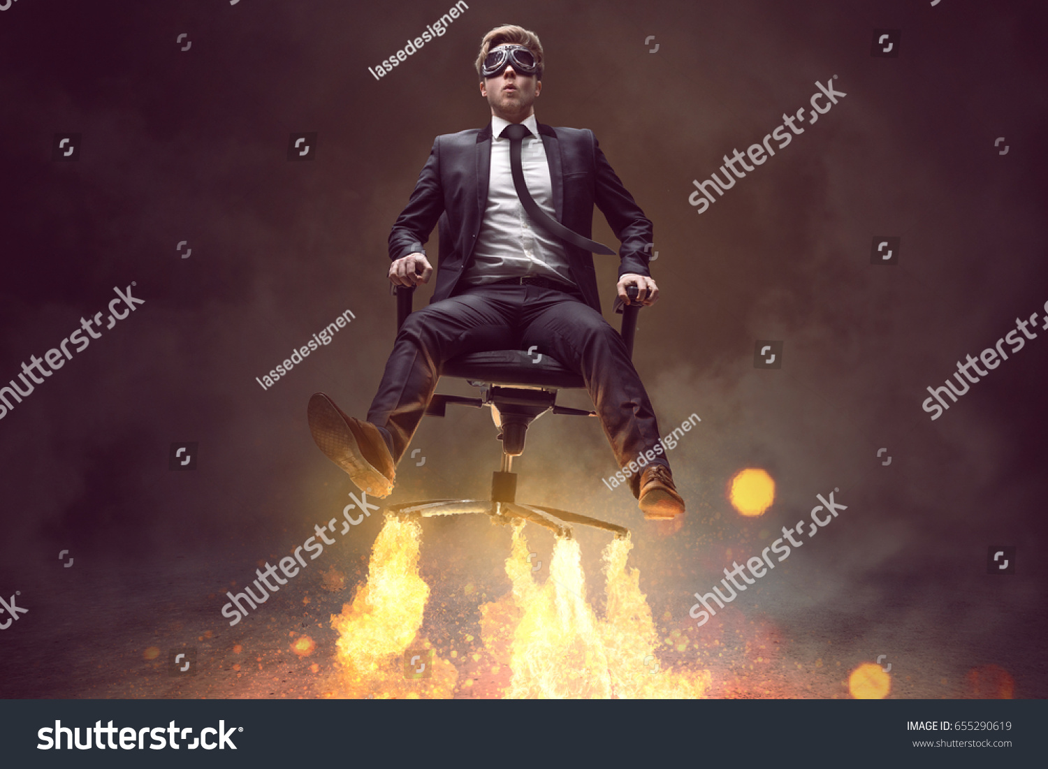 Incroyable Man With Rocket Chair