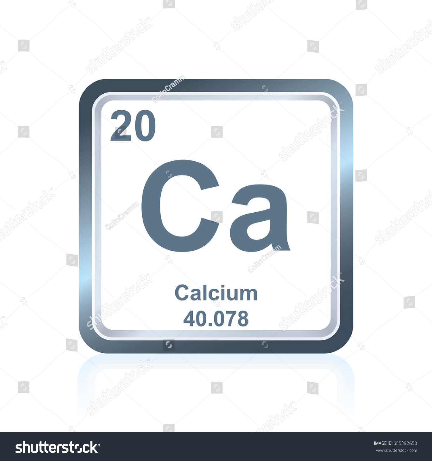 Symbol chemical element calcium seen on stock vector 655292650 symbol of chemical element calcium as seen on the periodic table of the elements including gamestrikefo Images