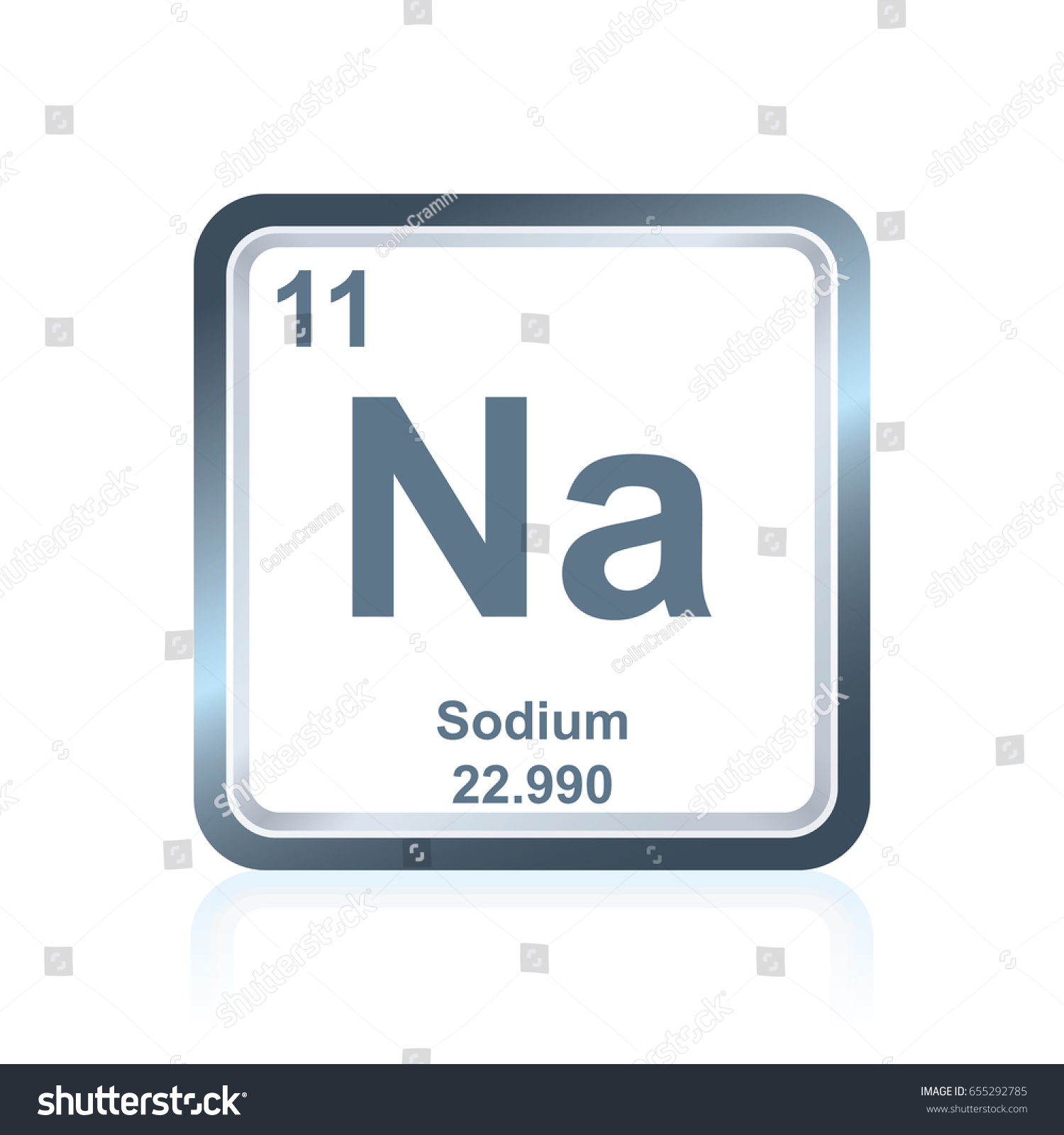 Symbol Chemical Element Sodium Seen On Stock Vector Royalty Free