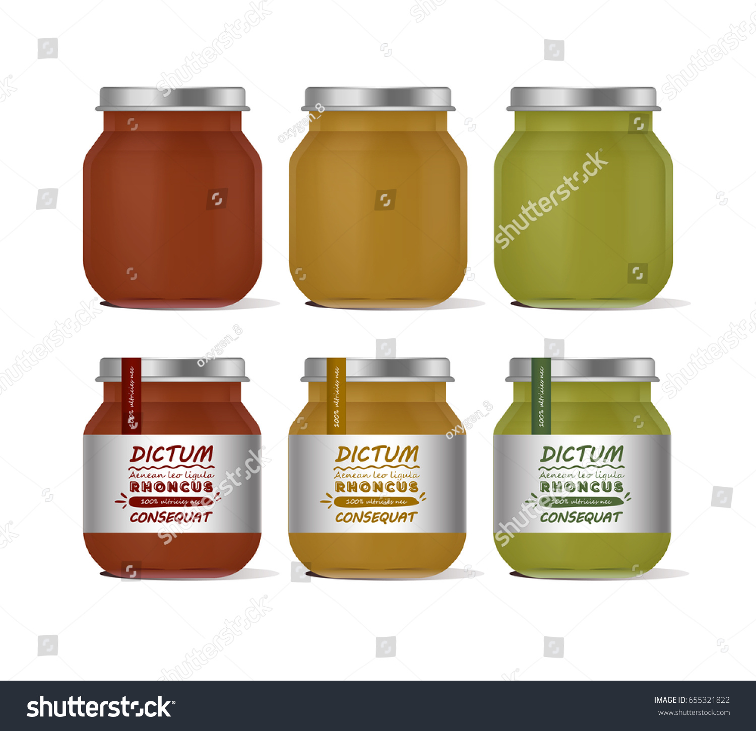 Vector illustration glass jar baby food stock vector for Baby food jar label template