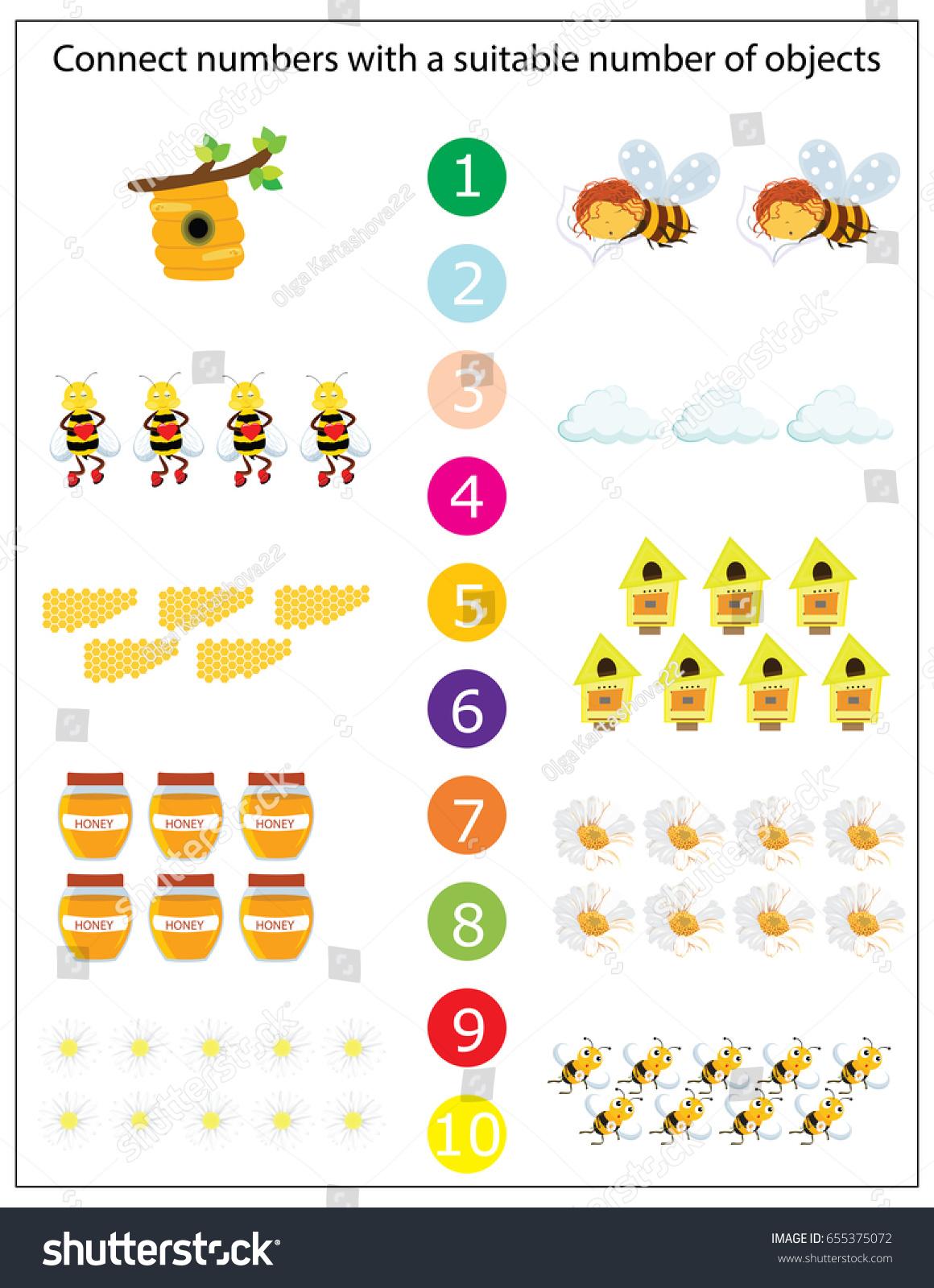 Math Kids Game Vector Illustration Preschool Stock Vector 655375072 ...