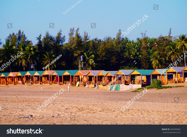 Agonda beach goa india january 22 2017 private resort bungalows