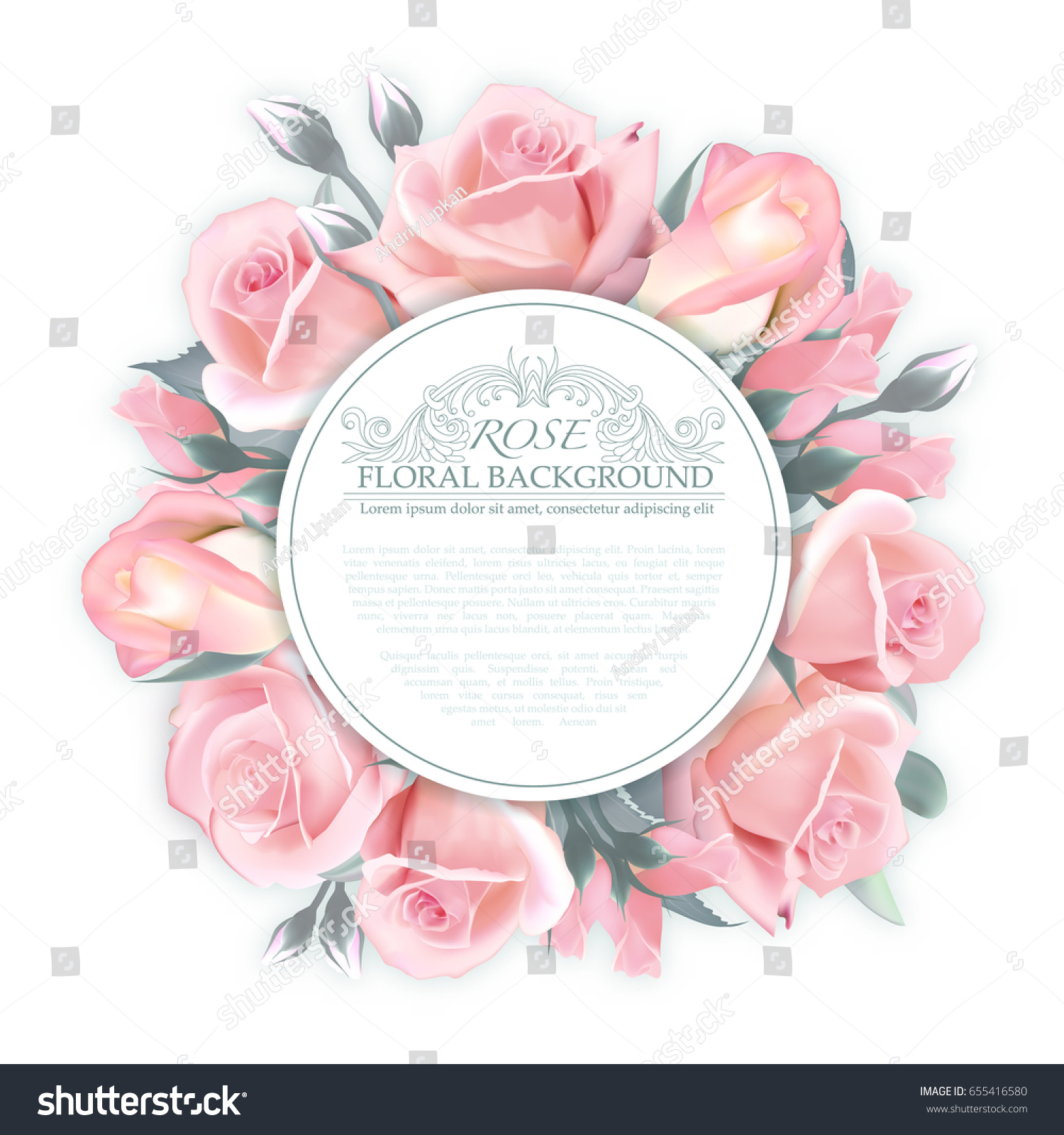 Royalty Free Stock Illustration Of Rose Wreath Template Wedding