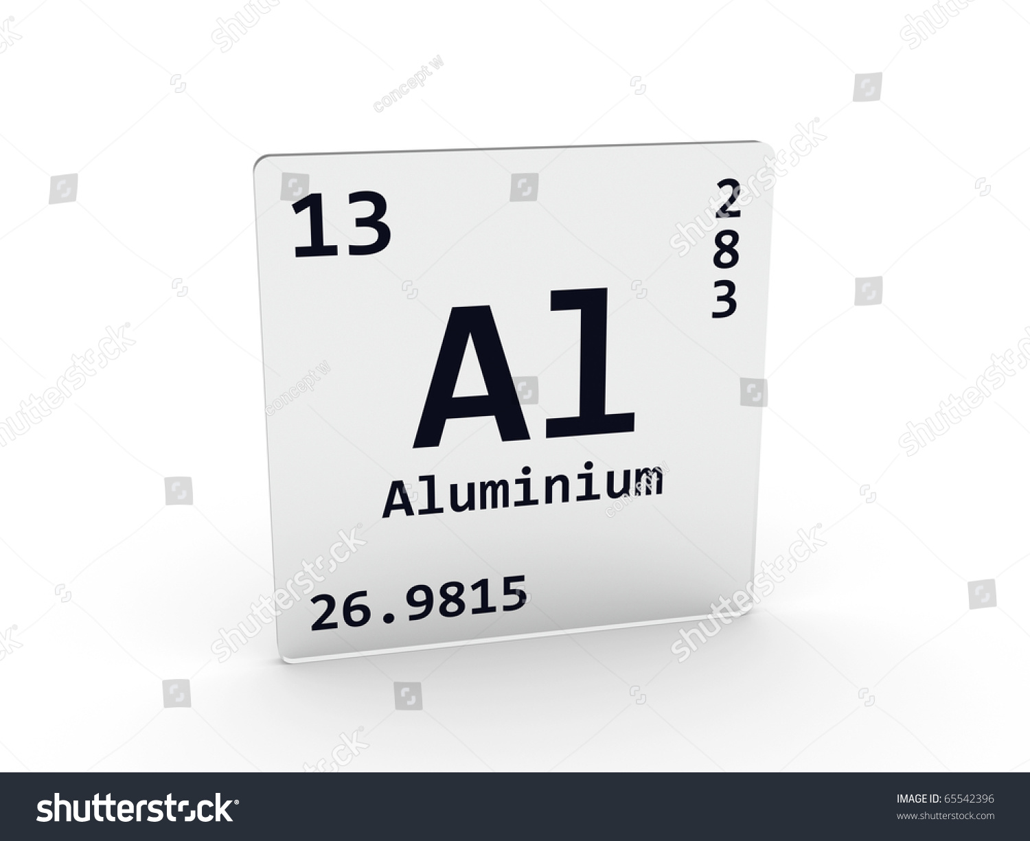 Aluminium Symbol - Al Stock Photo 65542396 : Shutterstock