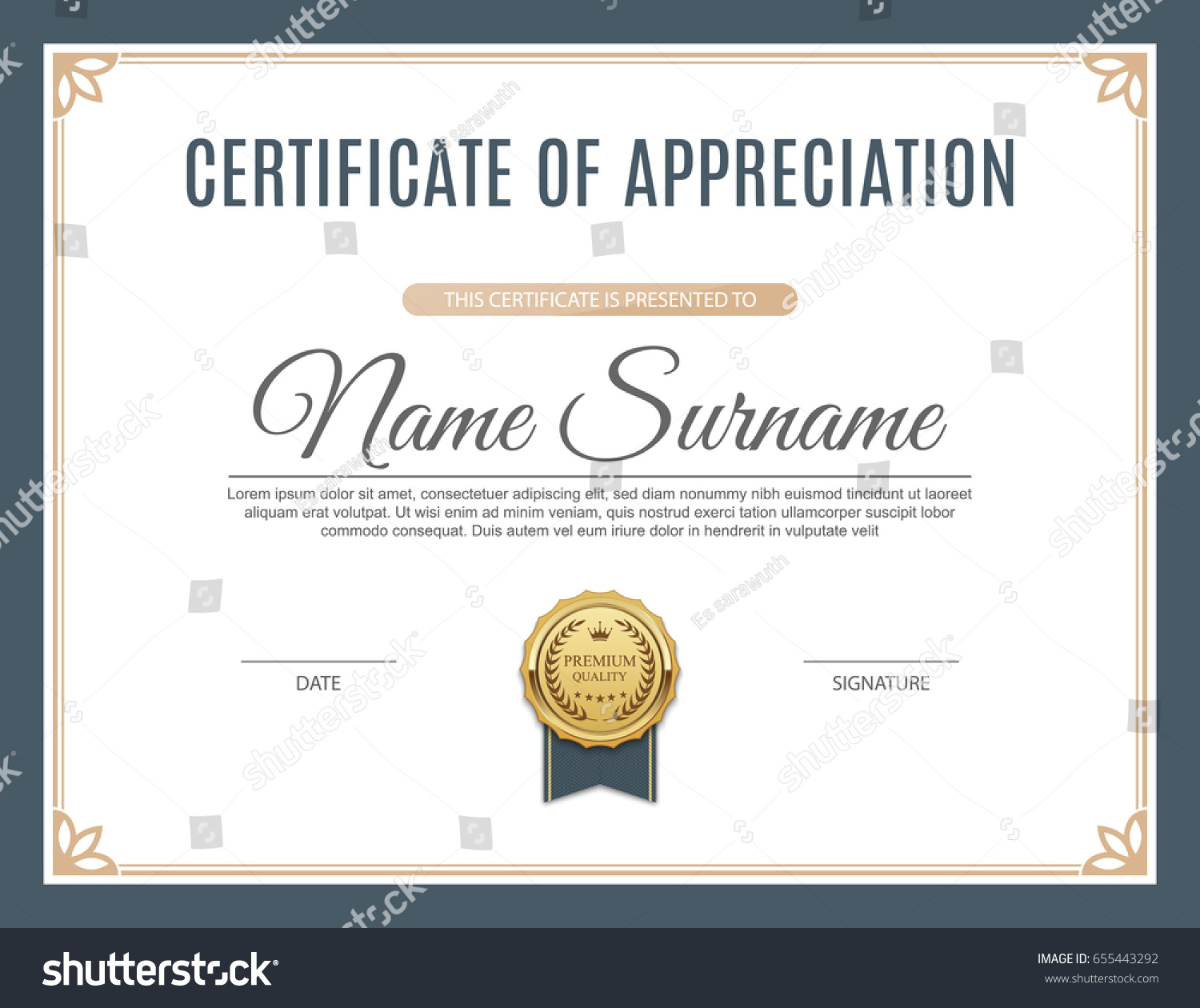 Certificate appreciation template design vector illustration stock certificate of appreciation template design vector illustration alramifo Image collections