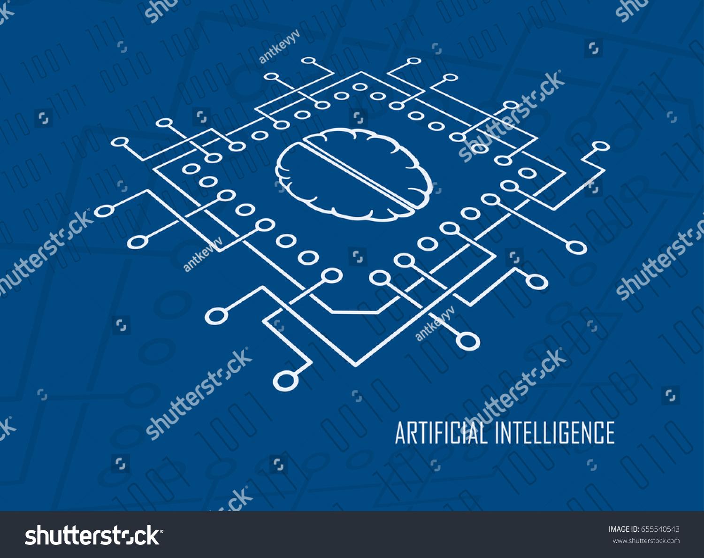 Computing cpu brain symbol modern artificial stock vector 655540543 computing cpu with brain symbol modern artificial intelligence symbol machine learning digital mind high biocorpaavc Images