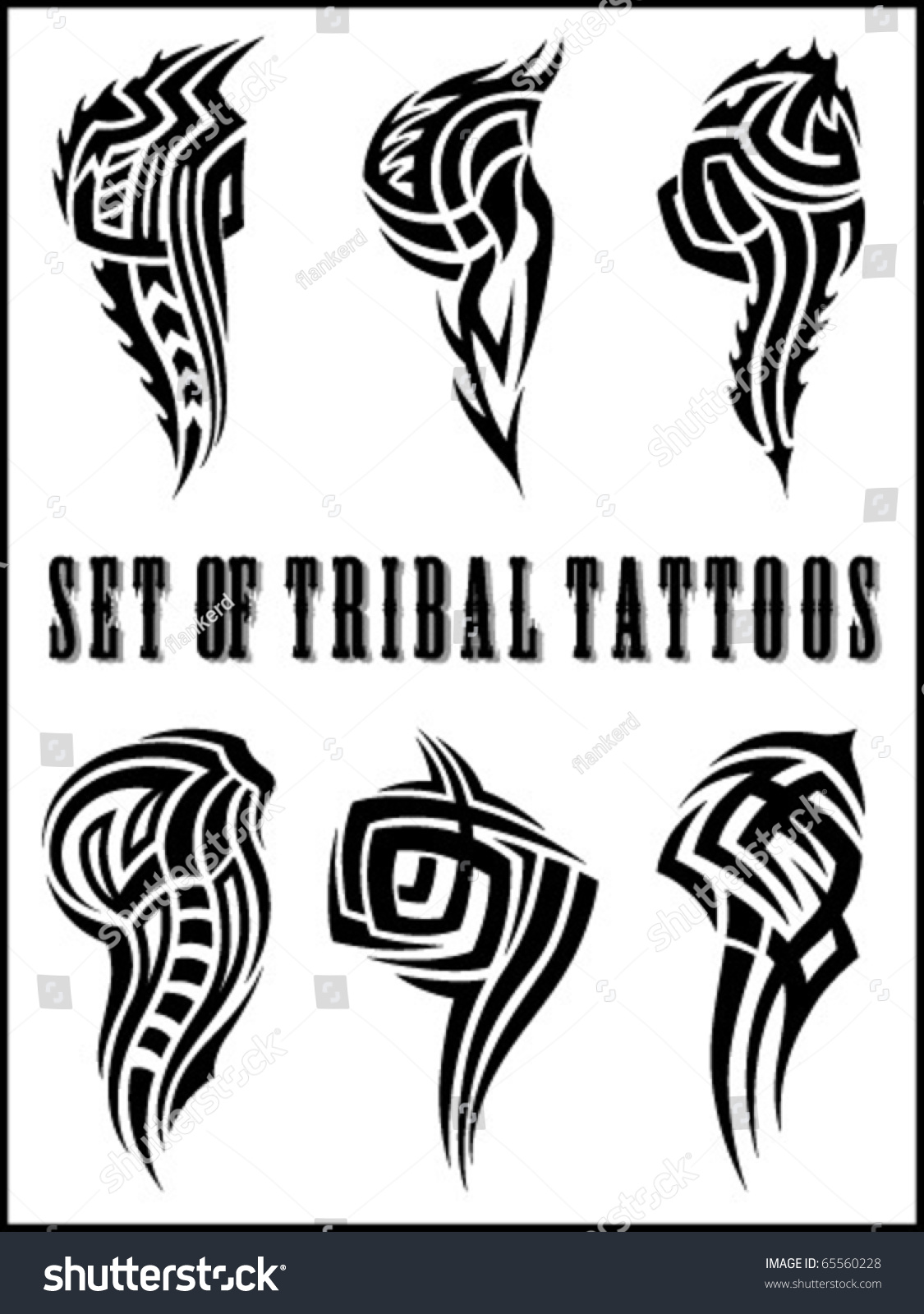 Tribal-Tattoos stock-vector-set-of-tribal-tattoo-including-65560228