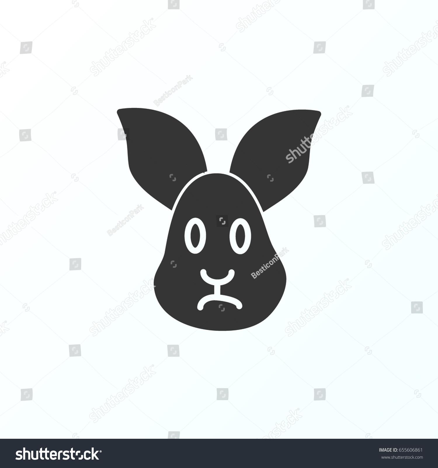 Symbol Of Rabbit Thin Line Icon Of Farming Stroke Pictogram