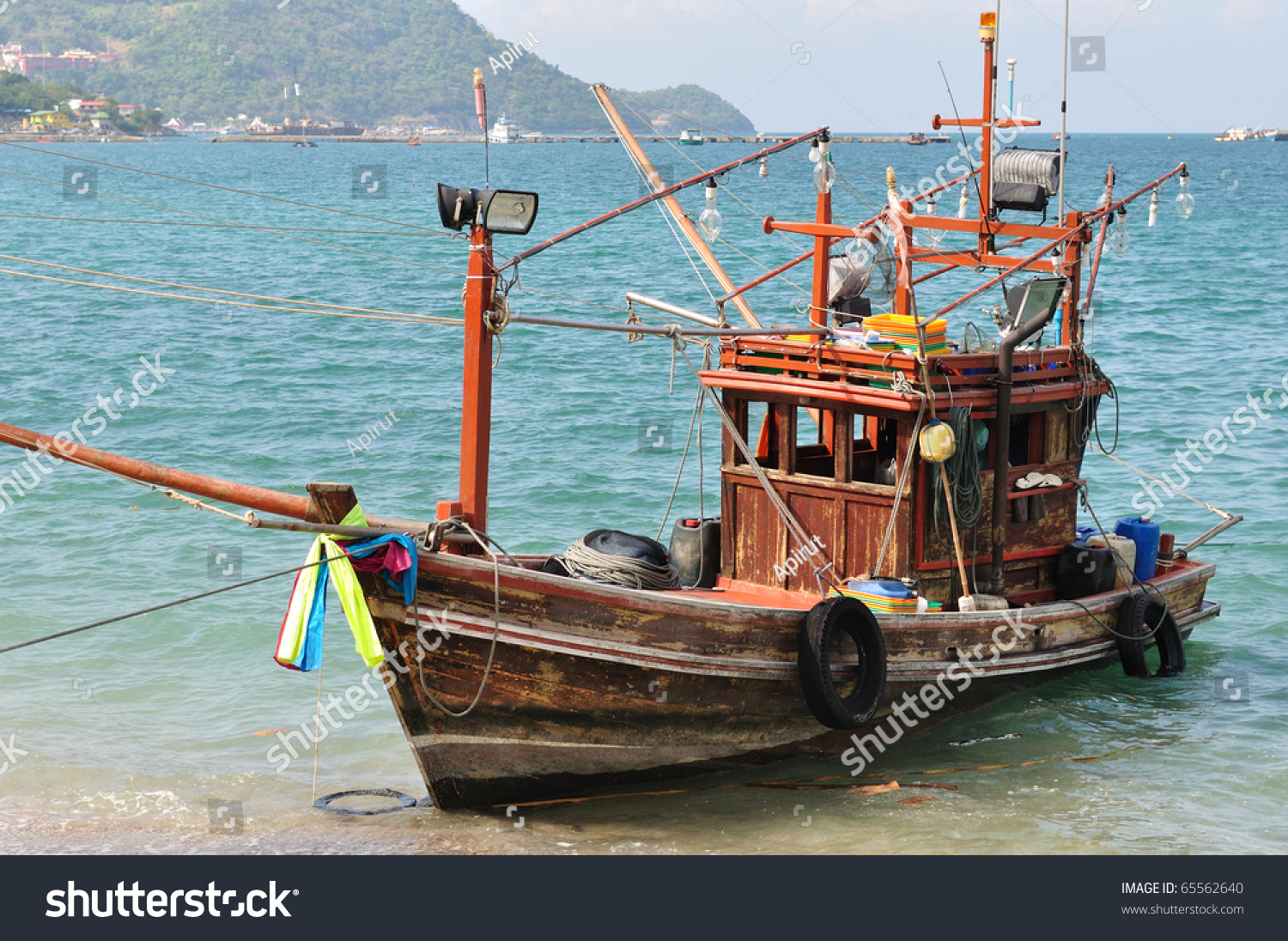 Old Small Fishing Boat Stock Photo 65562640 Shutterstock