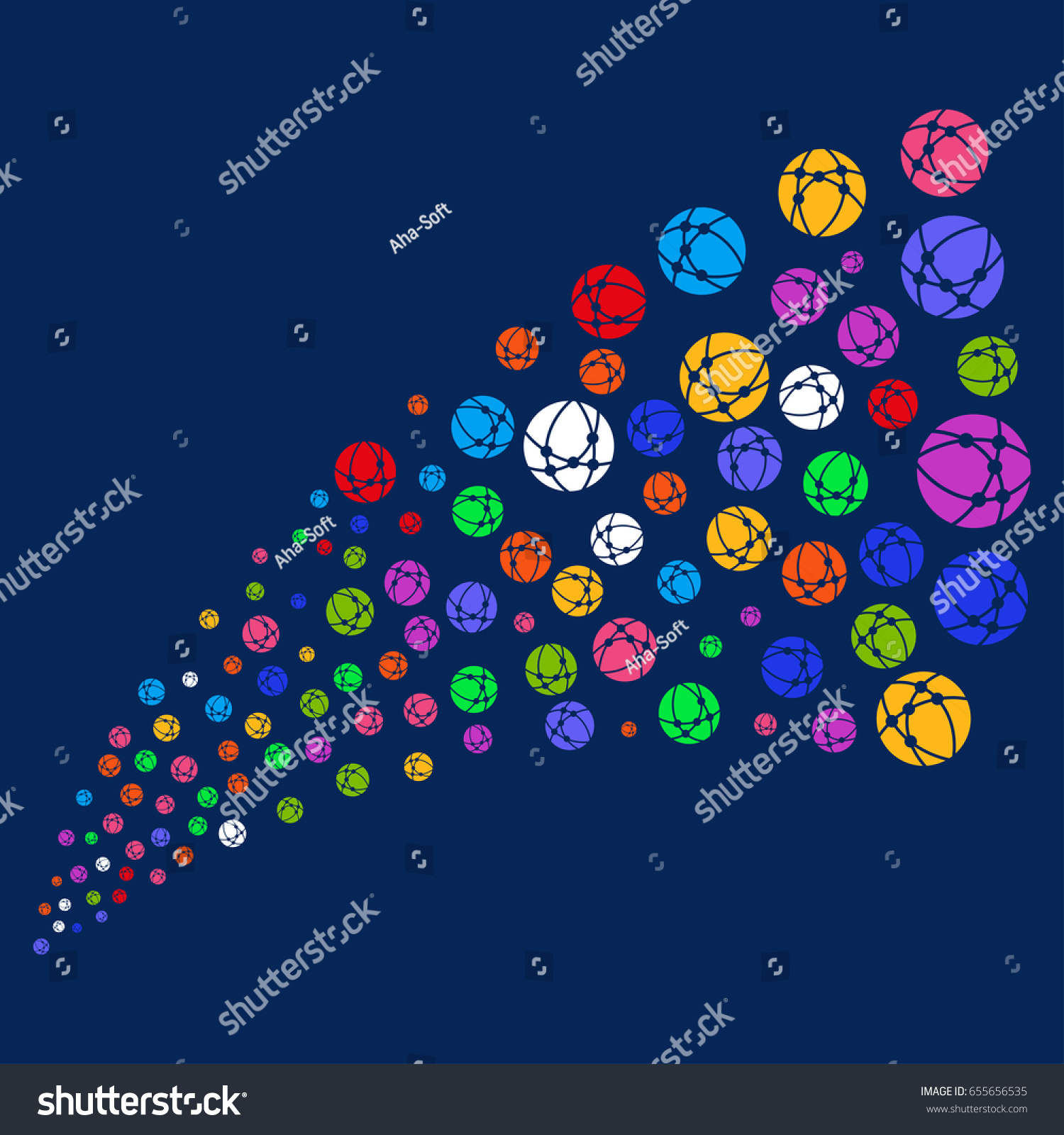 Fountain Web Browser Symbols Vector Illustration Stock Vector