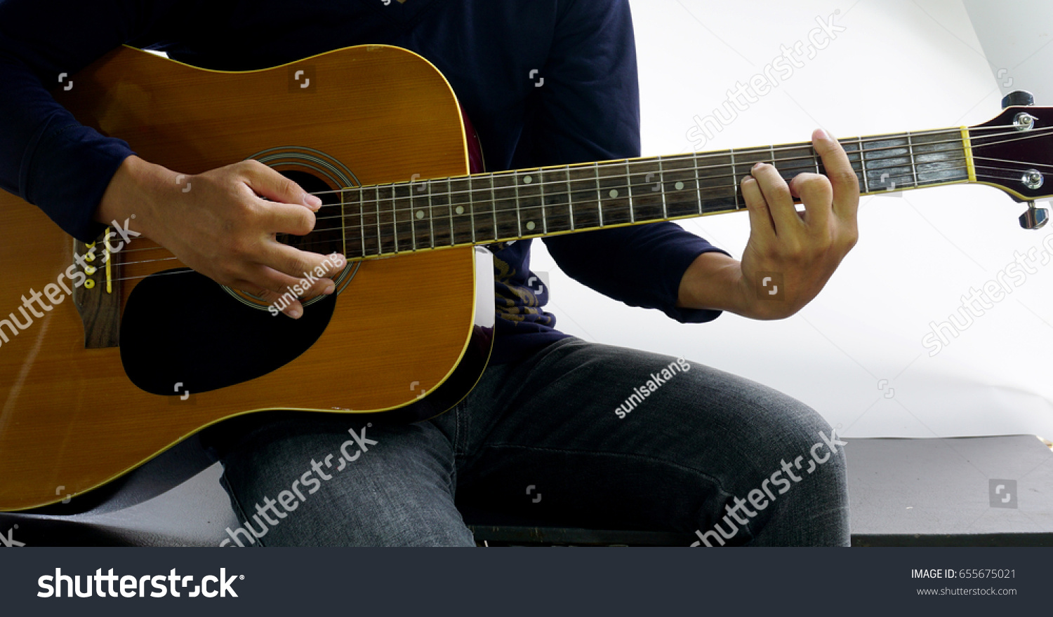 How Play Guitar Chord Cm Stock Photo Edit Now 655675021 Shutterstock
