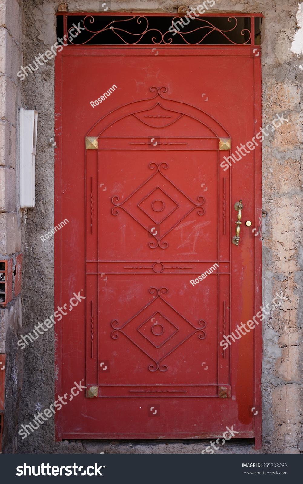 Steel Door Moroccan Style The quite village of Imlil in The High Atlas Mountain & Steel Door Moroccan Style Quite Village Stock Photo (Safe to Use ...