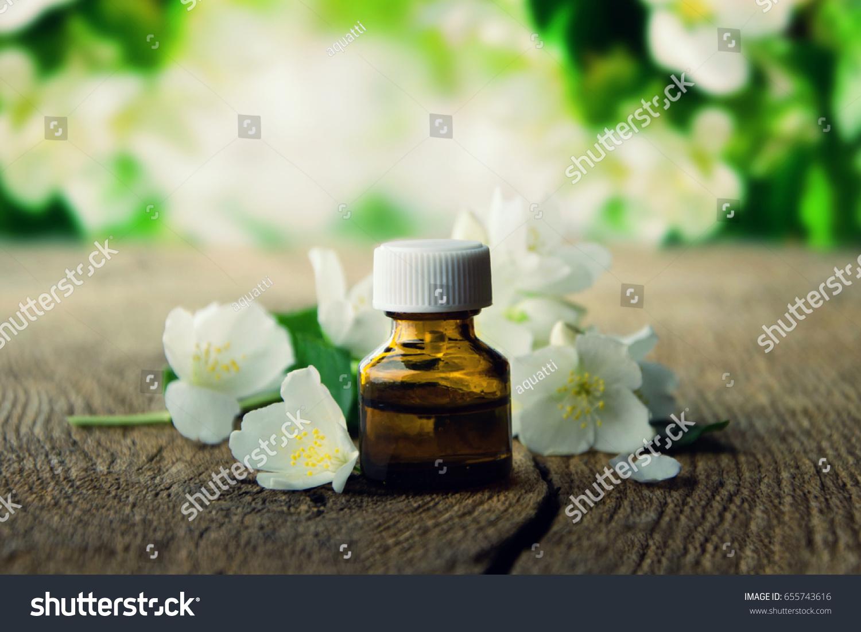 Essential Oil Jasmine Flower On Vintage Stock Photo Edit Now