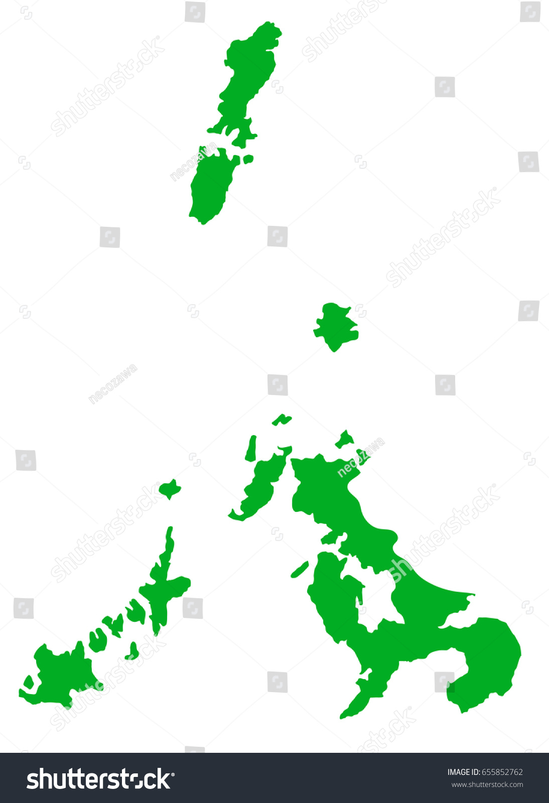 Japan Map Nagasaki Prefecture Stock Vector Shutterstock - Japan map nagasaki