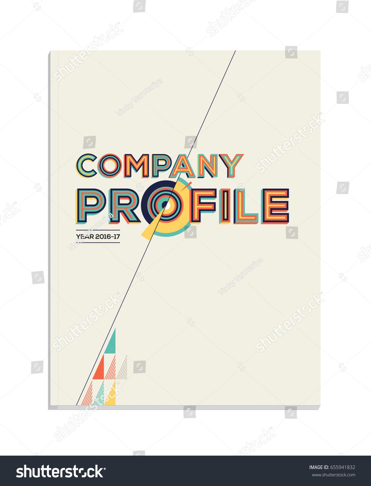 Company Profile Modern Graphics Layout Creative Stock Vector