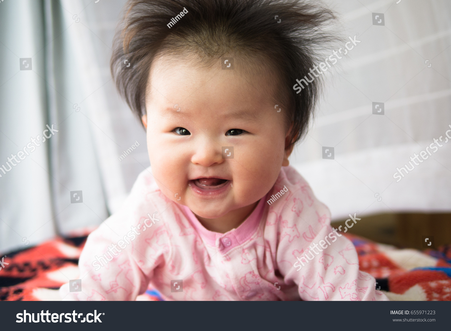 Baby Playing Toys Japanese Girls Six Stock Photo Edit Now