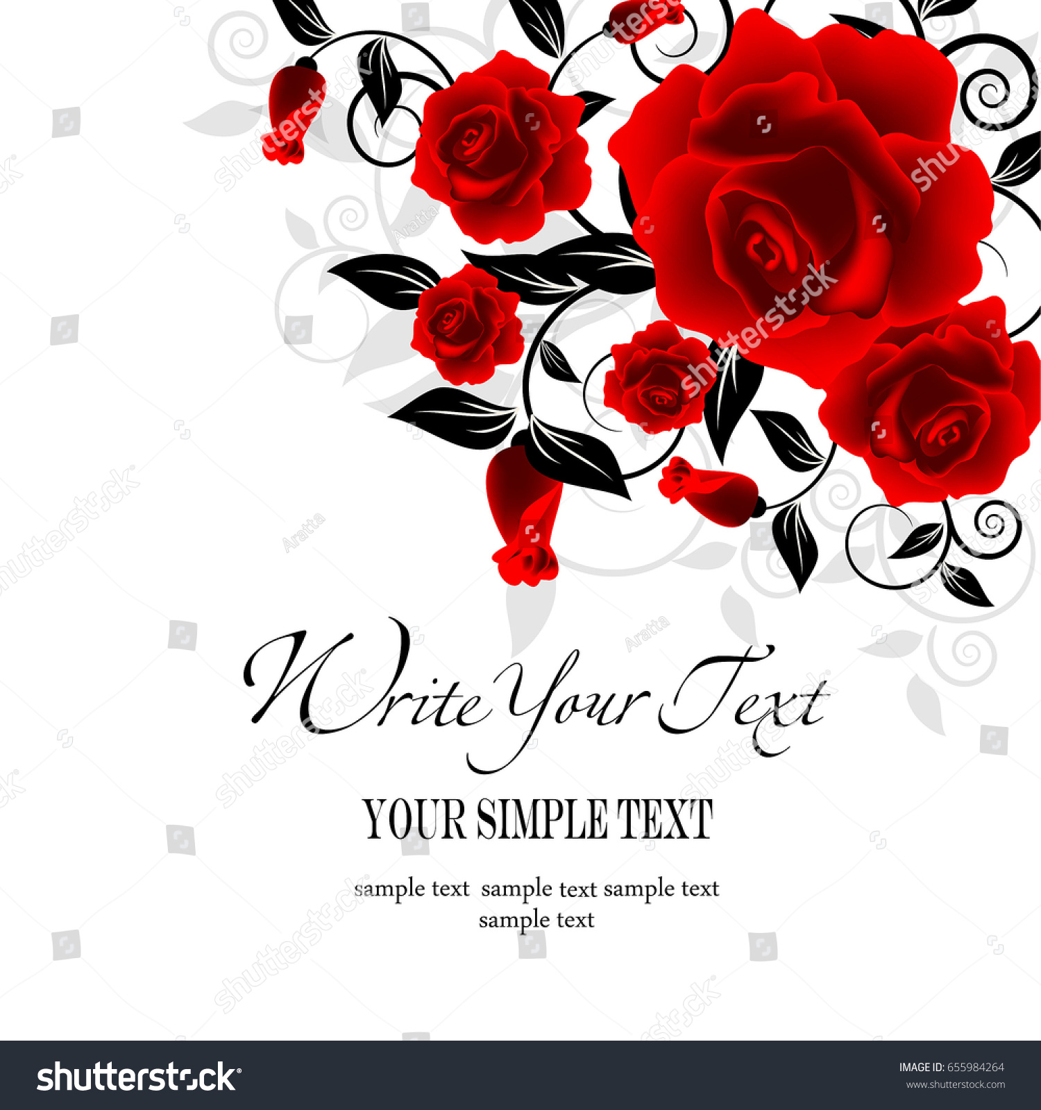 Wedding Card Invitation Abstract Floral Background Stock Photo ...