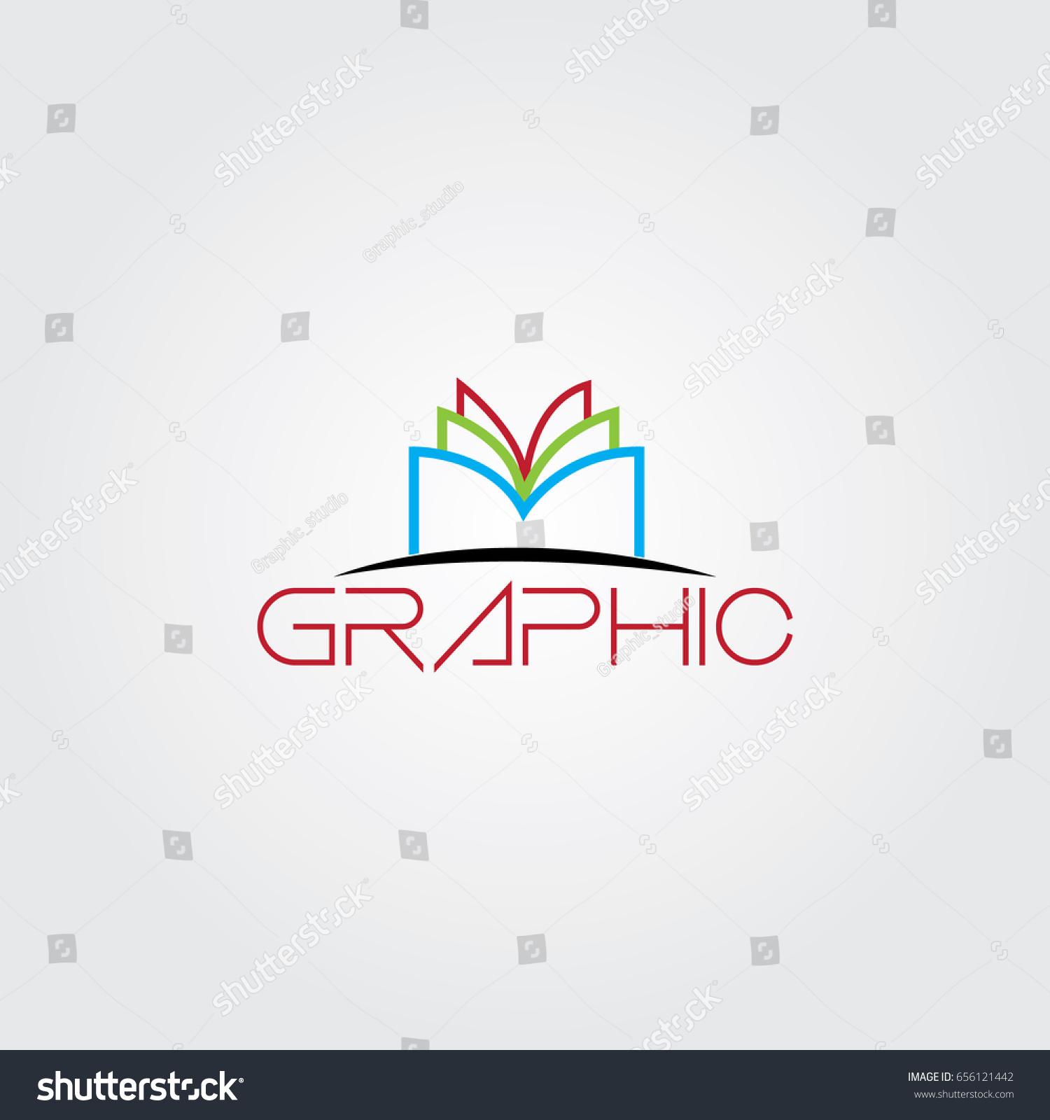Creative Book Design Vector : Creative logo design unique symbol book stock vector