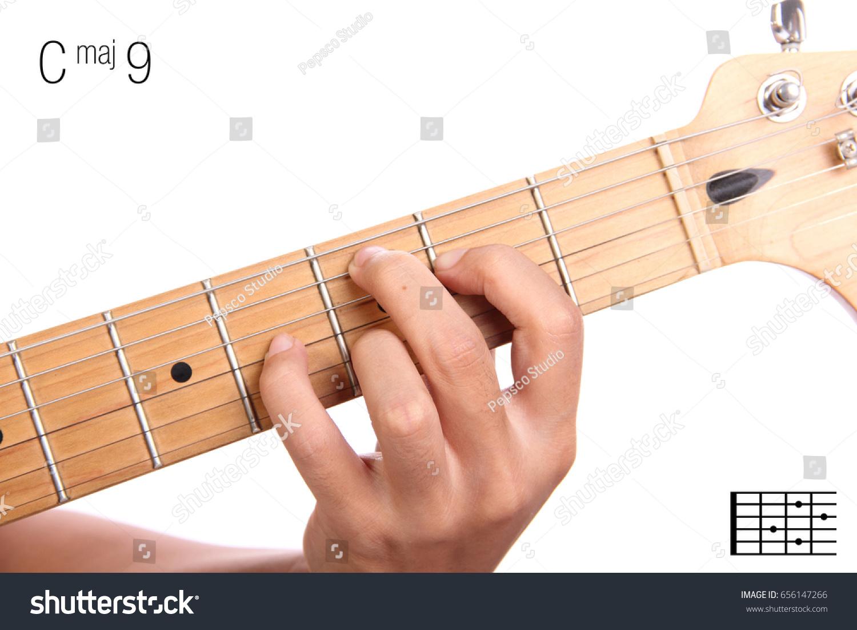 C Maj 9 Major Ninth Keys Guitar Series Stock Photo Edit Now
