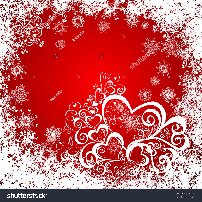 Christmas hearts celebration background vector