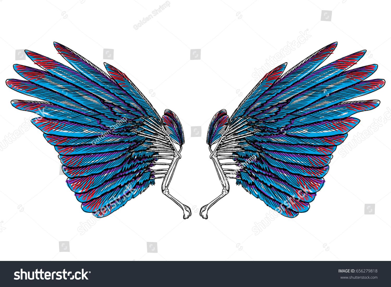 Sacred angel bird wings symbolism lightness stock vector 656279818 sacred angel or bird wings symbolism of lightness spirituality heaven and imagination buycottarizona