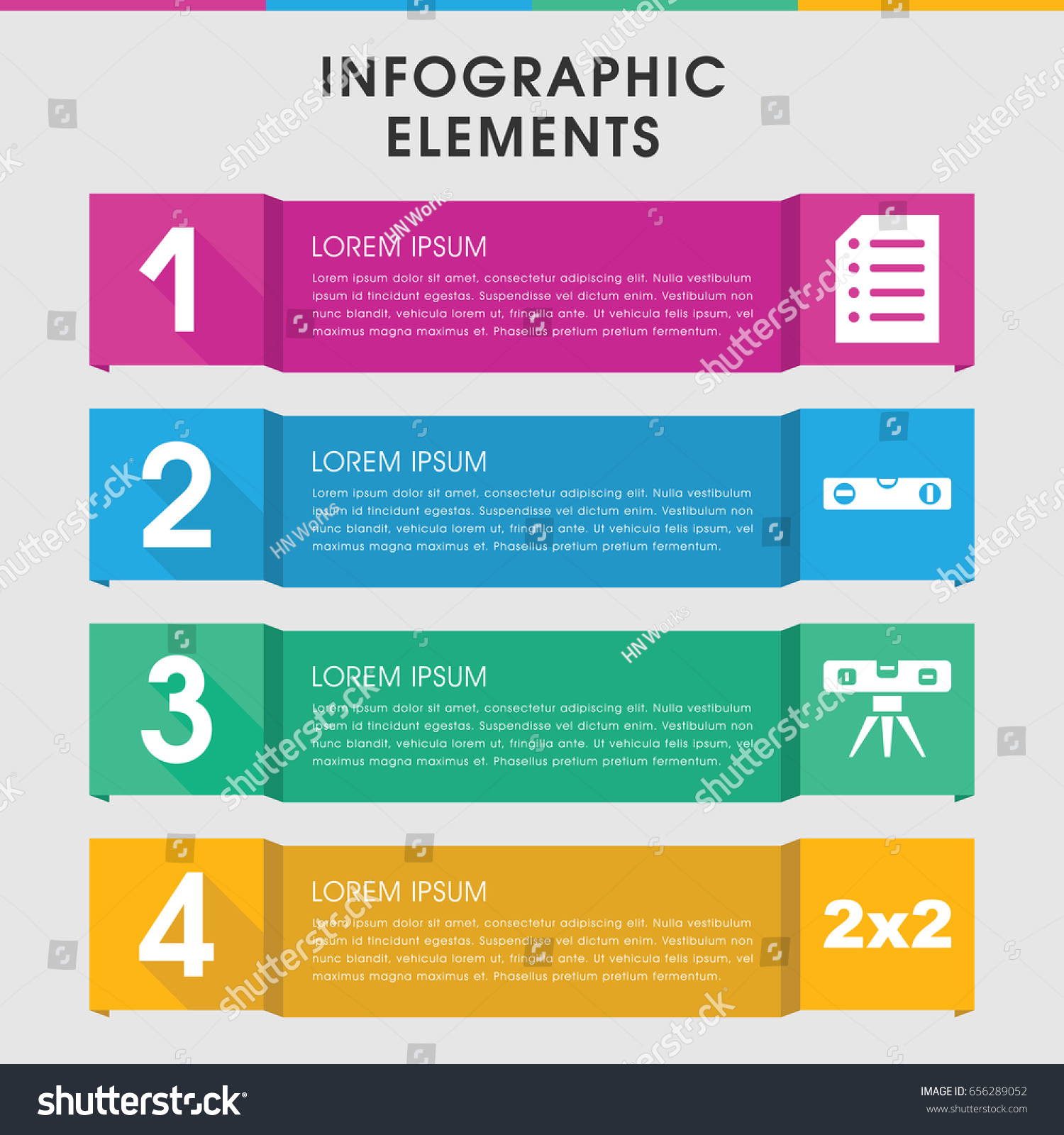 Modern Horizontal Infographic Template Infographic Design
