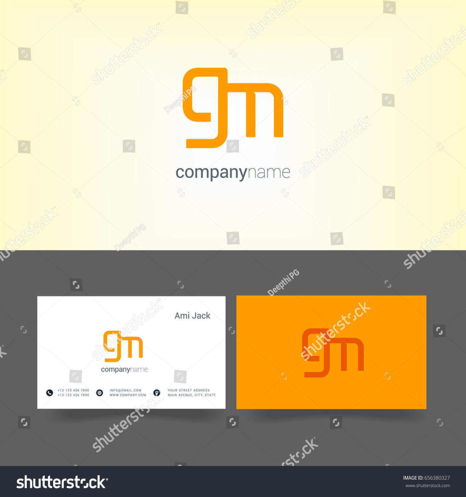 G M Joint Logo Letter Symbol Stock Vector HD (Royalty Free ...